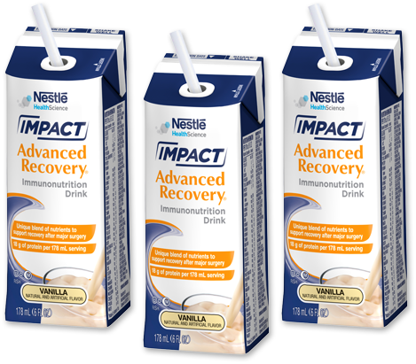 Ask your doctor if IMPACT Advanced Recovery® Drink can help support your surgery recovery